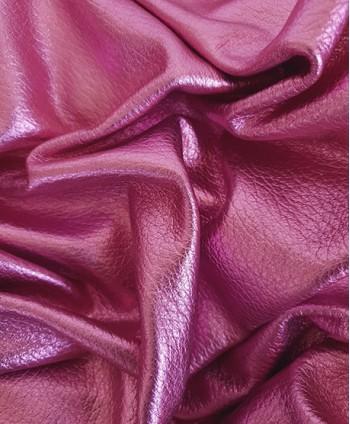 Pink Embossed Metallic Calf