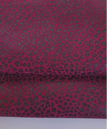 Cranberry Baby Leopard Printed