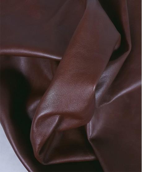 Cognac Morosso Semi Shine Soft Leather