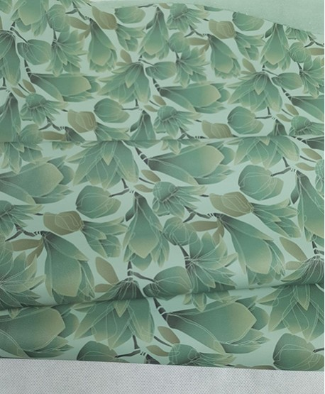 Green Latic Soft Flowers Pattern