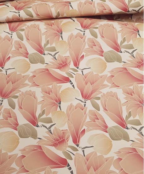 Nude Latic Soft Flowers Pattern