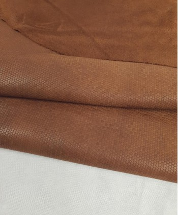 Brown Zegna Honeycomb Embossed