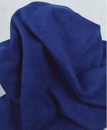 Blue Very Soft Nobuck Leather