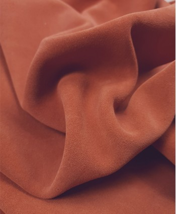 Apricot Calf Suede