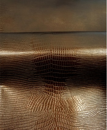 Copper Metallic Snake Leather
