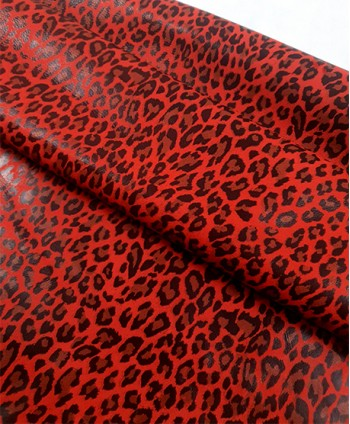 Red Leopard Printed