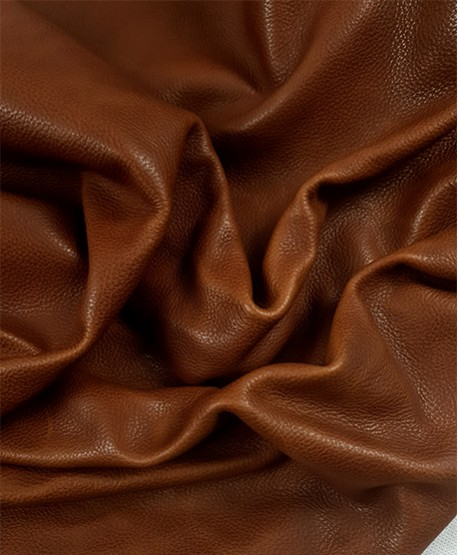 Cognac Khora Bicolor Natural Embossed Baby Calf Leather (Full Hide)