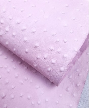 Baby Pink Ostrich Embossed...