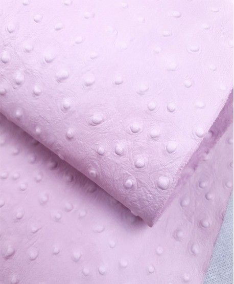Baby Pink Ostrich Embossed Releaf