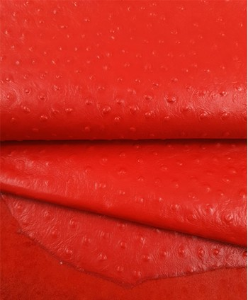 Red Ostrich Embossed Releaf