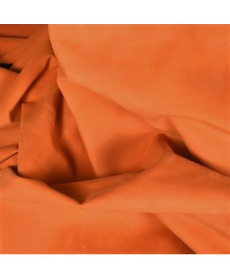 Orange Nubuck Leather Hide