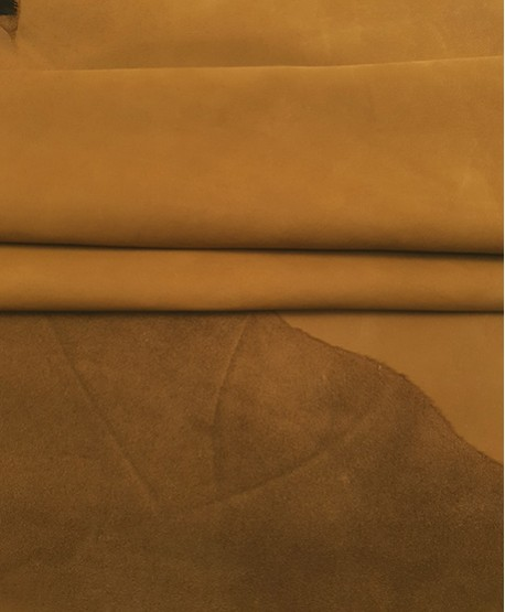 Camel Nobuck Very Soft Thin Leather
