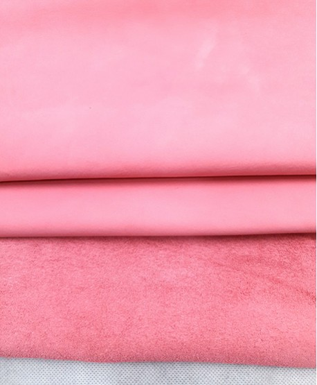 Pink Nobuck Very Soft Thin Leather