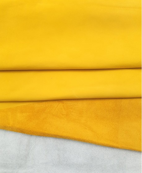 Yellow Nobuck Very Soft Thin Leather