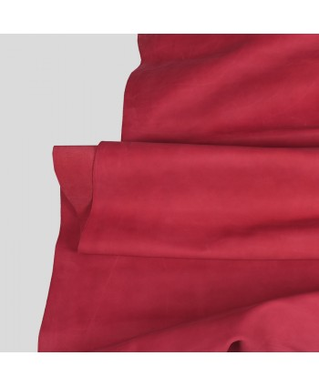 Pink Nubuck Leather Hide