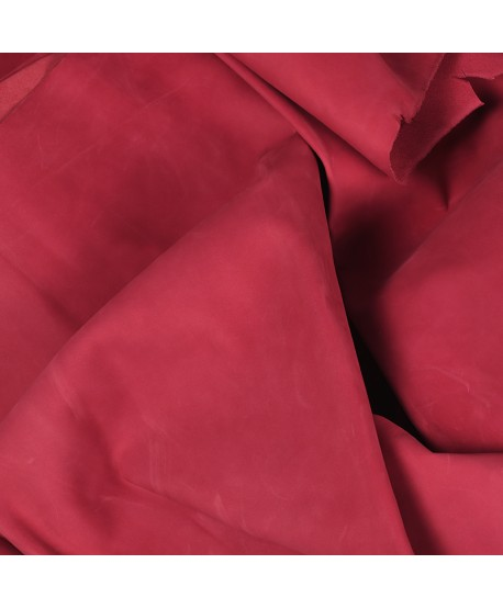 Pink Nubuck Leather