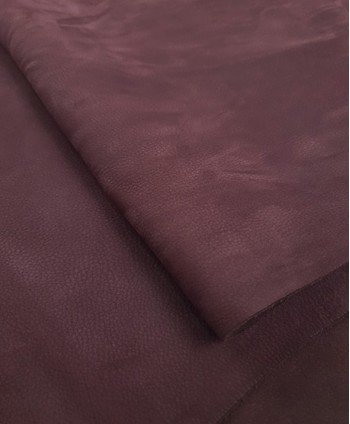 Burgundy Diffuse Milled Nubuck