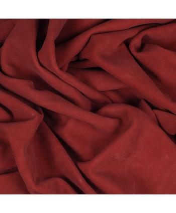 Ruby Rose Embossed Nubuck Leather Hide